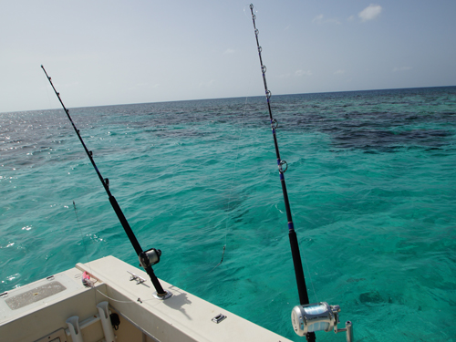 Belize-Guide-Co-two-poles-blue-water
